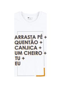 Camiseta Masculina Em Malha De Algodão Com Estampada