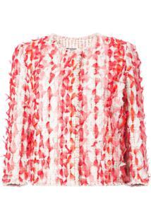 Alexander Mcqueen Tweed Cocoon Jacket - Vermelho