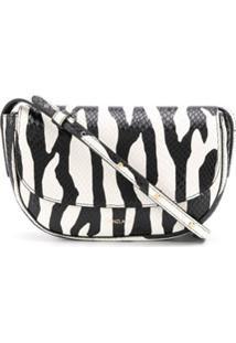 Frenzlauer Bolsa Tiracolo Com Estampa De Zebra - Branco