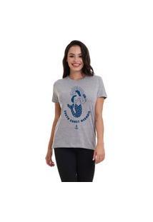 Camiseta Jay Jay Basica South Coast Mermaid Cinza Mescla Dtg