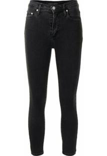 Nobody Denim Calça Jeans Skinny Cropped - Preto