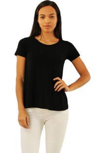 T-Shirt Versatti Evasê Cinza Mescla