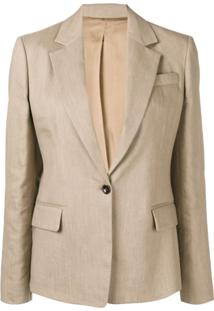 Joseph Single Breasted Blazer - Marrom
