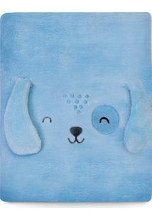 Cobertor Papi Microfibra Bichuus Azul
