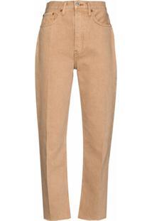 Re/Done Calça Jeans Reta 70S Stove Pipe - Neutro
