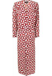Isabel Marant Vestido Albi Com Estampa Geométrica - Vermelho