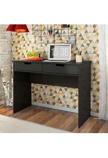 Mesa Para Computador Com 2 Gavetas New – Olivar - Preto / Preto