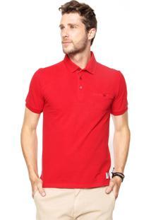 Camisa Polo Enfim Bolso Vermelha