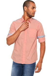 Camisa Guess Douglas Laranja/Cinza