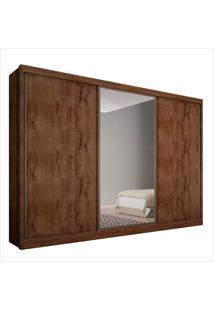 Guarda-Roupa Casal Com Espelho 6 Portas Everest- Novo Horizonte - Canela