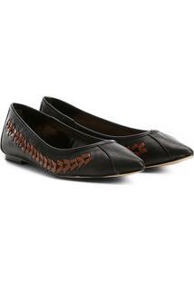 Sapatilha Couro Shoestock Bico Fino Handmade Feminina - Feminino