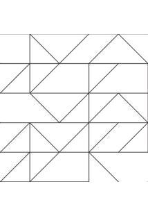 Papel De Parede Stickdecor Adesivo Geomã©Trico Linhas 100Cm L X 300Cm A - Preto - Dafiti