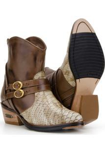 Bota Texana Em Couro Capelli Boots Feminina - Feminino-Marrom