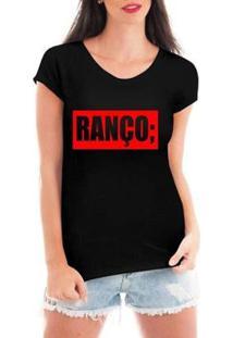 Blusa Criativa Urbana Ranço T-Shirt Feminina - Feminino-Preto