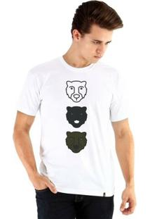 Camiseta Ouroboros Manga Curta Three Bear - Masculino-Branco