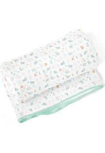 Cobertor Papi Letrinhas Branco - Kanui