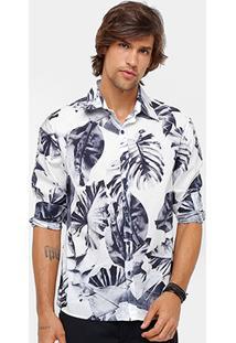 Camisa Ellus Folhagem Vintage Masculina - Masculino