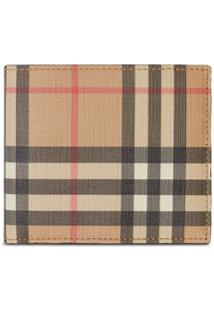 Burberry Carteira International Com Vintage Check - Marrom
