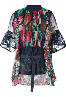 Sacai Blusa Floral - Estampado