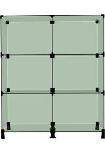 Balcão Atendimento Vidro Modulado 6 Divisórias 40X30