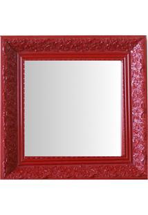 Espelho Moldura Rococó Fundo 16429 Vermelho Art Shop