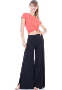 Calça Pantalona Amazonia Vital Transpassada Malha Feminina - Feminino