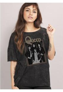 Blusa Bandup! Queen Portrait - Feminino-Preto