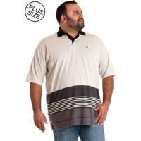 Camisa Pólo Bege Plus Size masculina  2113f6fcd45f9