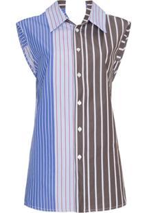 Marni Blusa Listrada - Azul