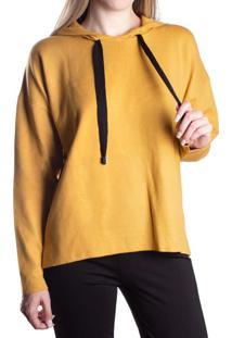 Blusa Feminina Biamar Com Capuz Malharia Amarelo - U