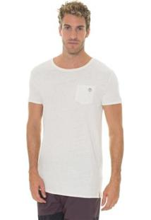 Camiseta Timberland Long Linen Masculina - Masculino-Branco