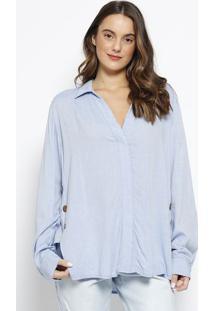 c3225b37e ... Camisa Com Botões- Azul- Maria Valentinamorena Rosa