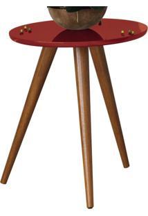 Mesa Lateral Decorativa Lyam Decor Sofia Vermelho