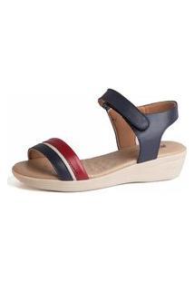 Sandália Anabela Doctor Shoes 180 Azul