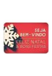 Tapete Decorativo Mdecore Natal Boas Festas Vermelho 40X60Cm