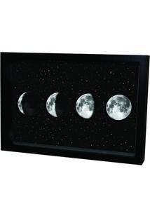Quadro Adesivo Prolab Gift Eletrostático Lua Preto