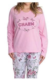 Pijama Longo Charm Kanto Dos Sonhos (1030) 100% Algodão