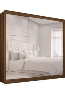 Guarda-Roupa Casal Master Com 3 Espelhos 3 Pt 2 Gv Nogueira