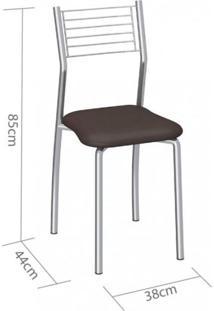 Cadeira Berlim Compoarte Marrom