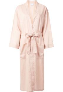 Pour Les Femmes Robe Com Amarração Na Cintura - Rosa