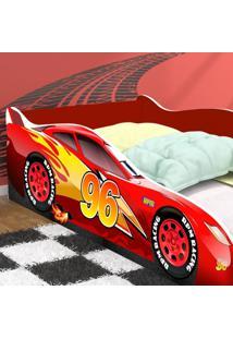 Cama Carro 96 Solteiro - Vermelho / Vermelho - Rpm Mã³Veis - Incolor - Dafiti