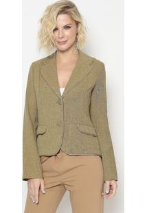 Blazer Com Recortes- Verde- Cotton Colors Extracotton Colors Extra