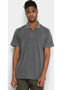 Camisa Polo Quiksilver Dyed Masculina - Masculino-Cinza