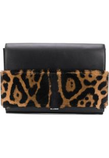 Jil Sander Clutch Com Animal Print - Preto