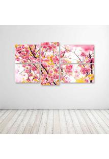 Quadro Decorativo - Cherry Flowers - Composto De 5 Quadros - Multicolorido - Dafiti