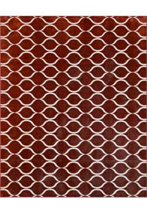 Tapete Monte Carlo La Rousse Retangular (200X250Cm) Vermelho E Creme