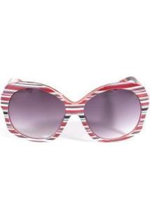 Óculos De Sol Feminino Triton Eyewear - Feminino-Vermelho