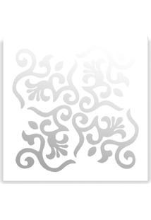 Espelho De Parede 13185B Branco 40X40 Art Shop