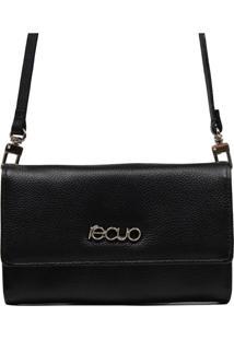 Bolsa Carteira Em Couro Recuo Fashion Bag Preto