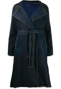 Pinko Trenchcoat Jeans - Azul